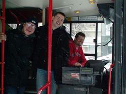 3/4 des Stadtrundfahrt-Teams: Steffen, Holger und Mario. (Mike, der Vierte im Bunde, steht hinter der Kamera)