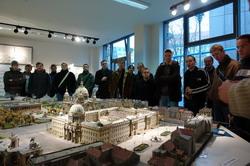 Das Stadtmodell des wilhelminischen Berlins beim Verein für den Wiederaufbau des Stadtschloßes.