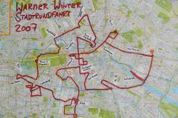 Stadtrundfahrt 2007: Die Route.