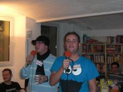 Karaoke: Florian und Hendrik