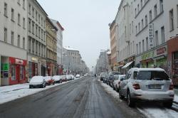 Die Oranienstraße in Berlin-Kreuzberg.