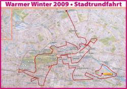 Stadtrundfahrt 2009: Die Route.